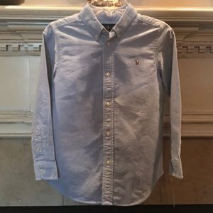 Ralph Lauren Chambray Button Front Dress Shirt